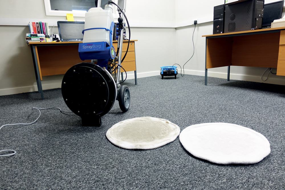 Cleaned office carpets